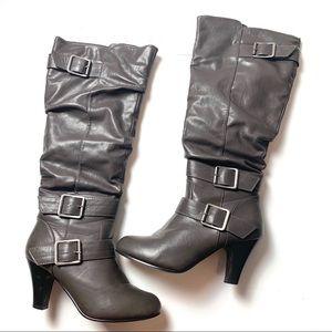 Rampage knee high heeled boots 8